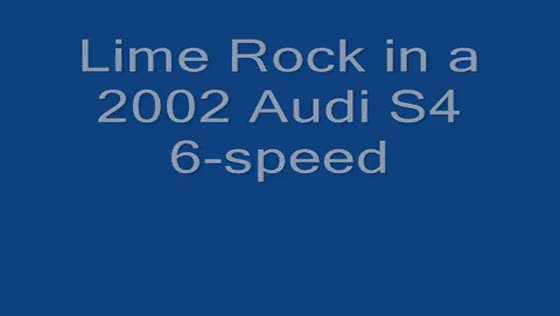 B5 S4 track driving at Lime Rock