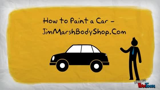 How to Paint a Car -- JimMarshBodyShop.Com