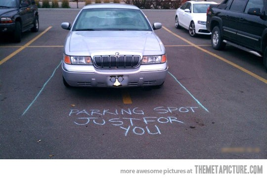 Funny Bad Parking Spot Chalk