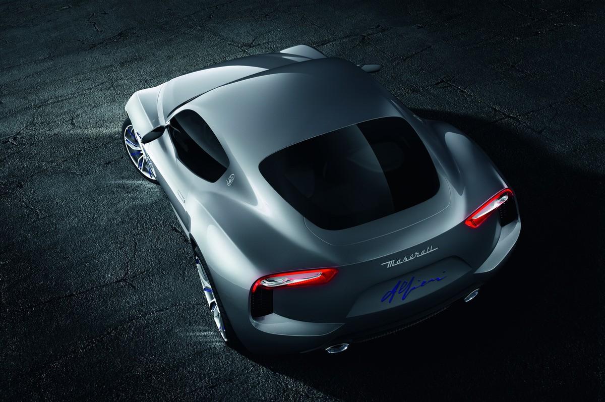 Maserati Alfieri Concept Rear Overhead 04