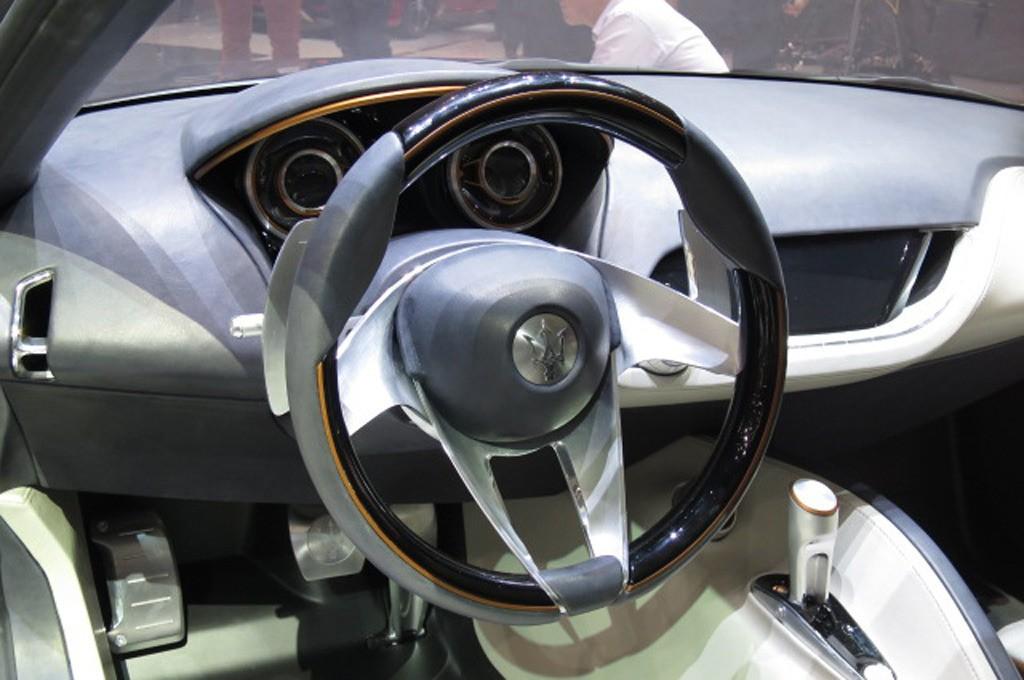 Maserati Alfieri Concept Show Floor Interior Steering Wheel
