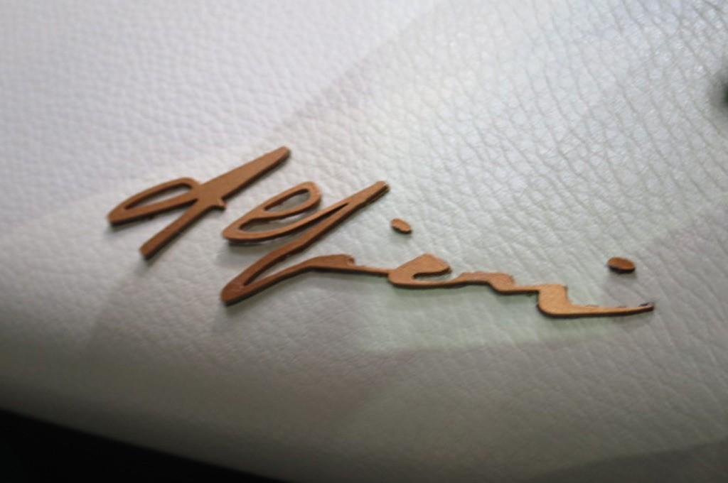 Maserati Alfieri Concept Show Floor Interior Badge
