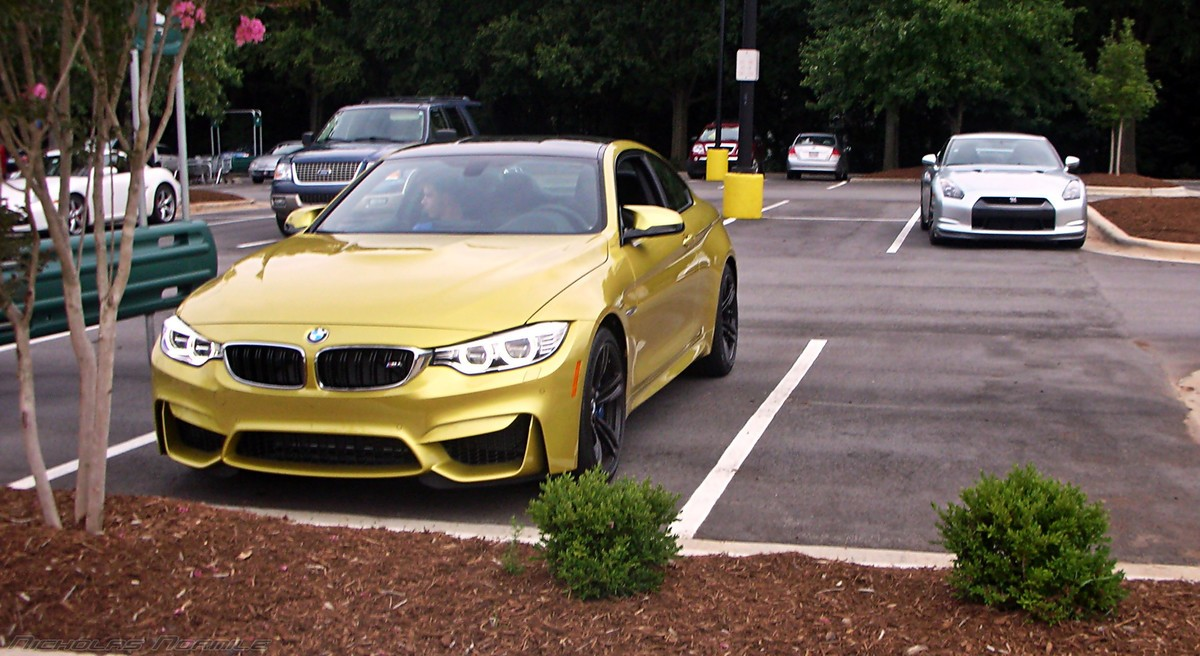 Bmw M4 And Nissan Gt R