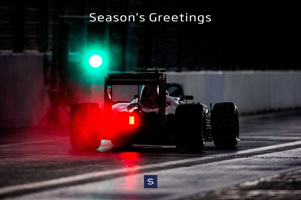 2015 F1 Sainz Sochi Seasons Greetings