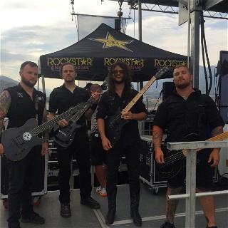 Whitechapel about to hit the stage at Mayhem Fest 2015 San Bernardino