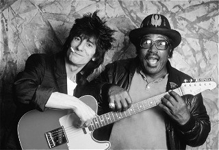 Ron Wood with Bo Diddley, 1987