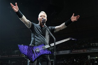 James Hetfield's ESP Custom Shop Purple Baritone Snakebyte