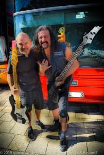 Steve Ungerbuehler (Metal Church) & Joey Vera (Armored Saint) with their LTD's