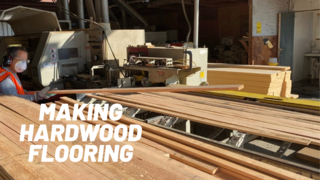 Commercial Forest Products making hardwood flooring in the USA