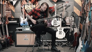 Nils Courbaron on the ESP E-II Horizon NT-7 EverTune