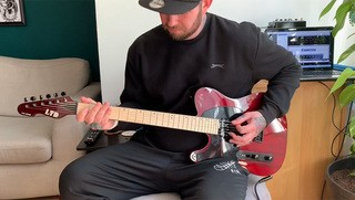 Joe Kenney: Playing His New LTD TE-200
