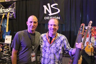 Jeff Donneworth of Bass Player Magazine, with Core Redonnett of NS Design