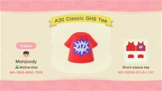 Acnh A30 Shirt