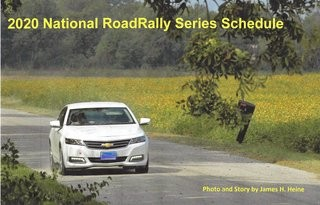 2020 Road Rally National Championship Schedule
