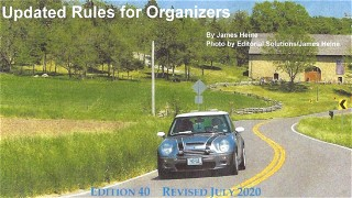 New Edition of RoadRally® Rules for Organizers Available for Download