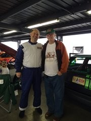My dad out to watch the race