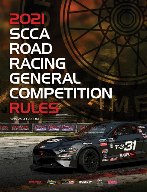 SCCA Rule Book